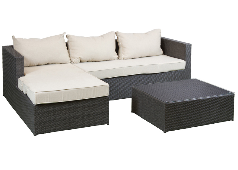 Conjunto terraza sof y mesa en ratt n sint tico for Conjuntos de jardin de rattan sintetico