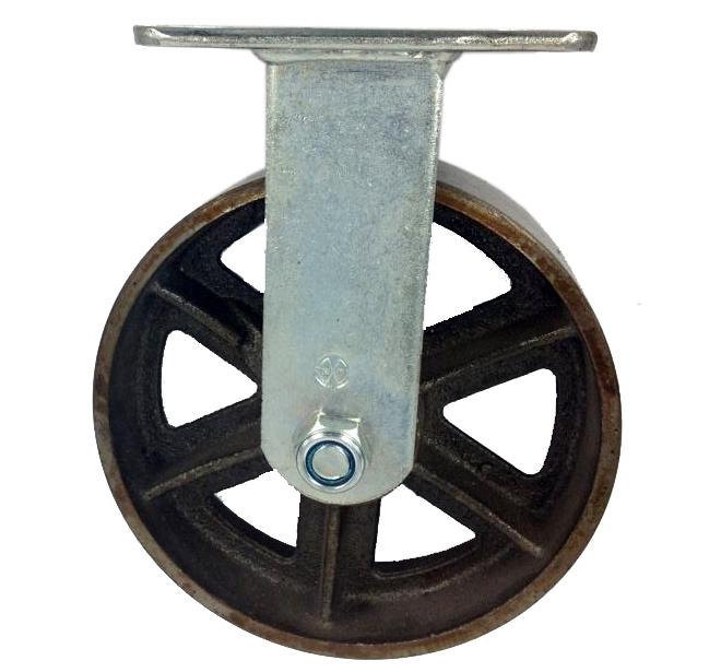 Rueda de hierro fundido fija for Ruedas industriales antiguas para muebles